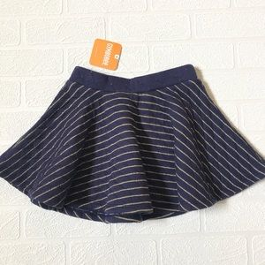 NWT Gymboree Gold Stripe Skater Skirt